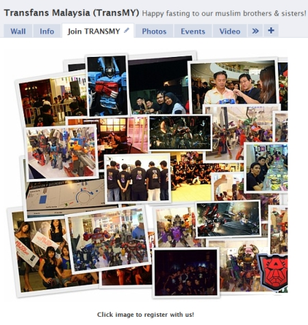 TransMY @ Facebook FBML Landing Page